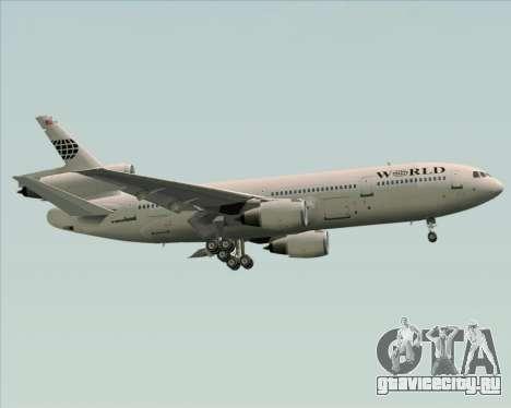 McDonnell Douglas DC-10-30 World Airways для GTA San Andreas вид сбоку