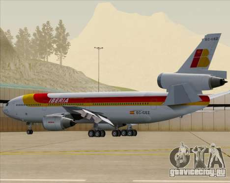McDonnell Douglas DC-10-30 Iberia для GTA San Andreas двигатель