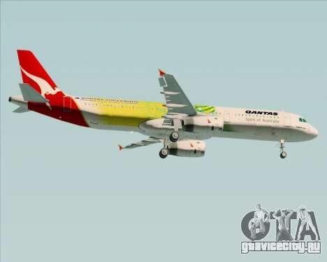 Airbus A321-200 Qantas (Socceroos Livery) для GTA San Andreas вид справа