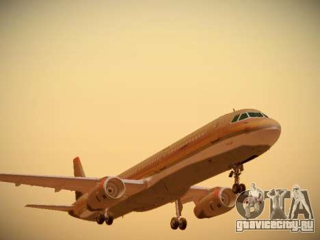 Airbus A321-232 Royal Jordanian Airlines для GTA San Andreas вид слева