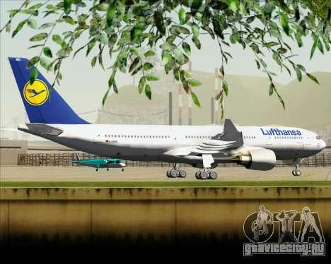 Airbus A330-200 Lufthansa для GTA San Andreas вид сзади