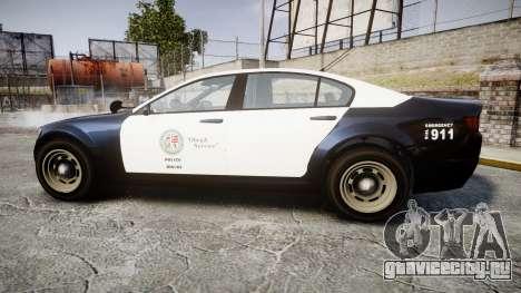 GTA V Cheval Fugitive LS Police [ELS] Slicktop для GTA 4 вид слева