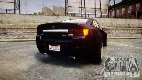GTA V Cheval Fugitive Unmarked [ELS] Slicktop для GTA 4 вид сзади слева
