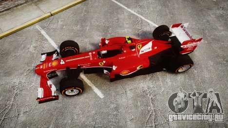 Ferrari F138 v2.0 [RIV] Massa THD для GTA 4 вид справа