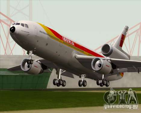 McDonnell Douglas DC-10-30 Iberia для GTA San Andreas вид изнутри