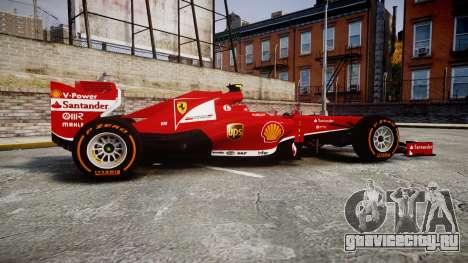 Ferrari F138 v2.0 [RIV] Massa THD для GTA 4 вид слева