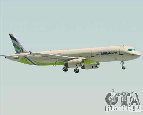 Airbus A321-200 Air Busan для GTA San Andreas вид снизу