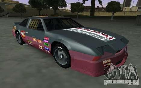 Новые декали и номера Hotring для GTA San Andreas вид изнутри