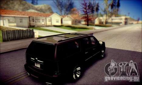 Cadillac Escalade Ninja для GTA San Andreas вид снизу
