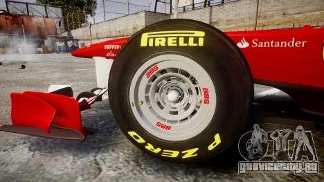Ferrari 150 Italia Massa для GTA 4 вид изнутри