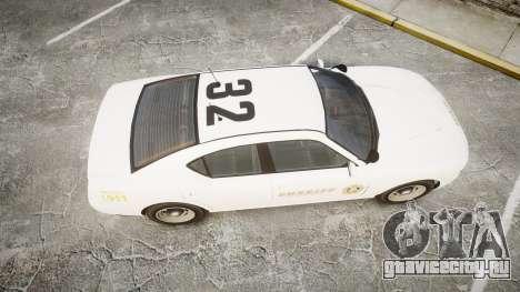 GTA V Bravado Buffalo LS Sheriff White [ELS] Sli для GTA 4 вид справа