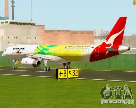 Airbus A321-200 Qantas (Socceroos Livery) для GTA San Andreas вид сзади