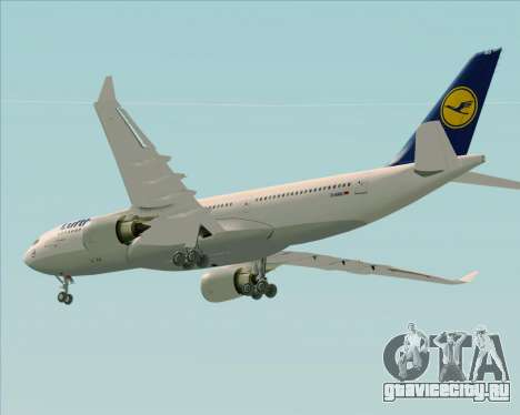 Airbus A330-200 Lufthansa для GTA San Andreas двигатель