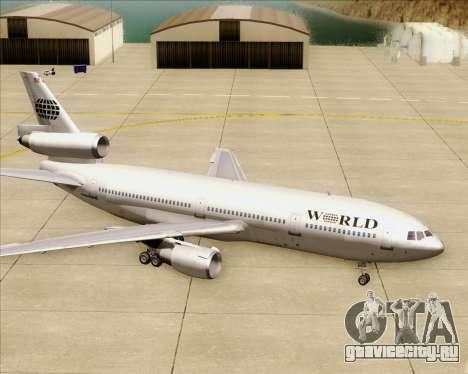 McDonnell Douglas DC-10-30 World Airways для GTA San Andreas колёса