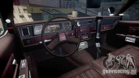 Chevrolet Caprice 1986 Brougham Police [ELS] для GTA 4 вид сзади