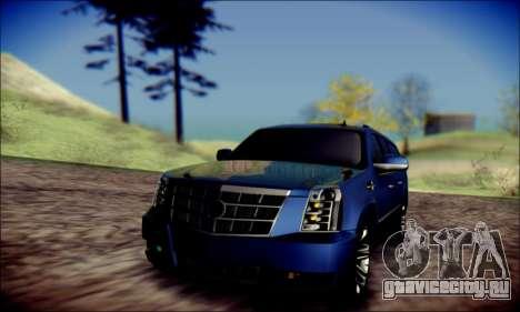 Cadillac Escalade Ninja для GTA San Andreas вид сверху