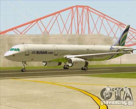 Airbus A321-200 Air Busan для GTA San Andreas вид сбоку