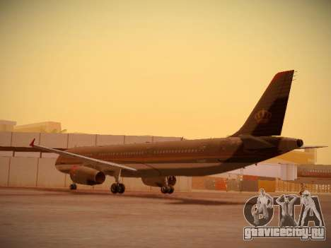 Airbus A321-232 Royal Jordanian Airlines для GTA San Andreas вид сзади слева