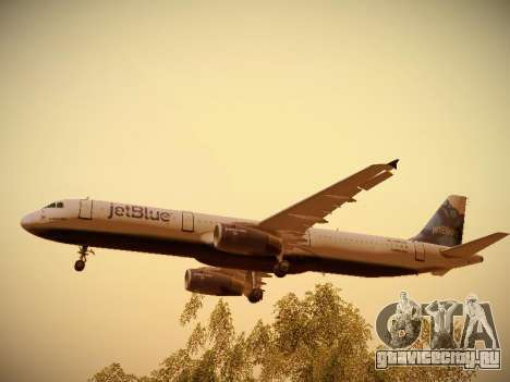 Airbus A321-232 jetBlue La vie en Blue для GTA San Andreas двигатель
