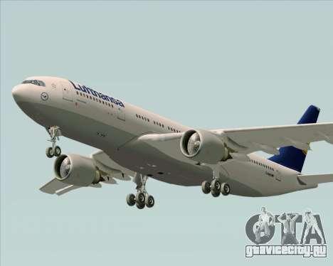 Airbus A330-200 Lufthansa для GTA San Andreas вид изнутри