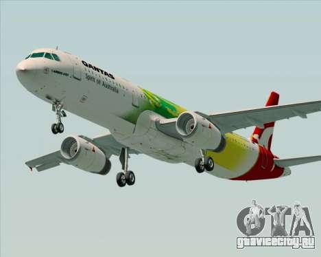Airbus A321-200 Qantas (Socceroos Livery) для GTA San Andreas вид сзади слева