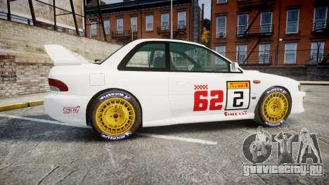 Subaru Impreza WRC 1998 SA Competio для GTA 4 вид слева