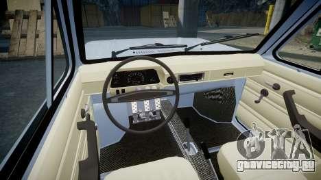 ЗАЗ-968 для GTA 4 вид изнутри