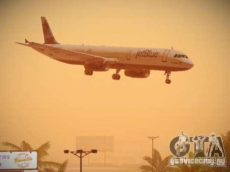 Airbus A321-232 jetBlue La vie en Blue для GTA San Andreas вид сбоку