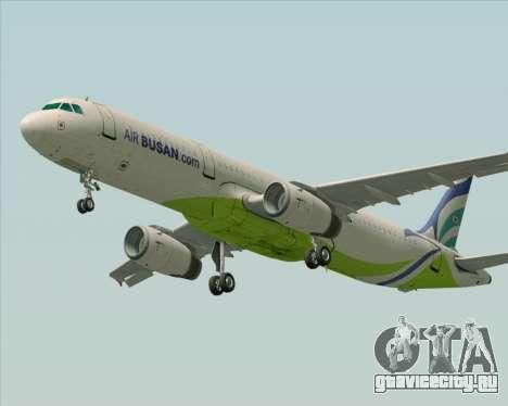Airbus A321-200 Air Busan для GTA San Andreas вид сзади