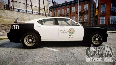 GTA V Bravado Buffalo LS Police [ELS] Slicktop для GTA 4 вид слева