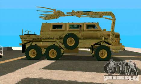 Bonecrusher Transformers 2 для GTA San Andreas вид слева