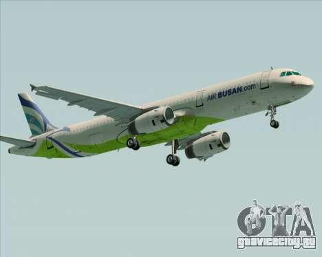 Airbus A321-200 Air Busan для GTA San Andreas вид слева