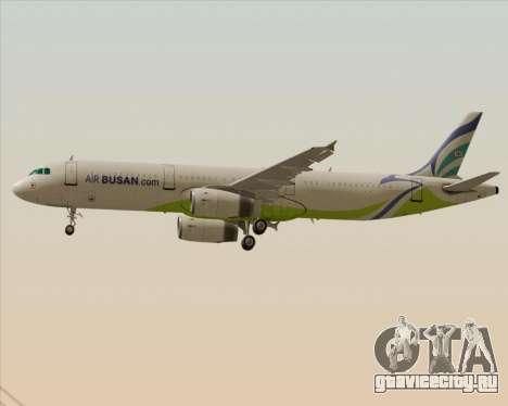 Airbus A321-200 Air Busan для GTA San Andreas колёса
