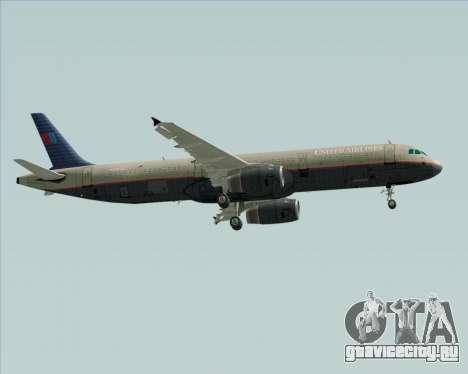 Airbus A321-200 United Airlines для GTA San Andreas вид сзади слева