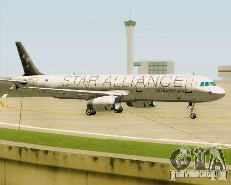 Airbus A321-200 Air New Zealand (Star Alliance) для GTA San Andreas вид слева