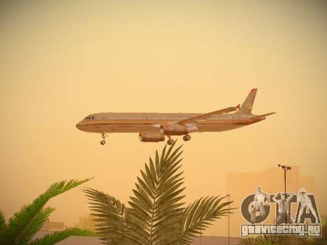 Airbus A321-232 Royal Jordanian Airlines для GTA San Andreas вид сверху