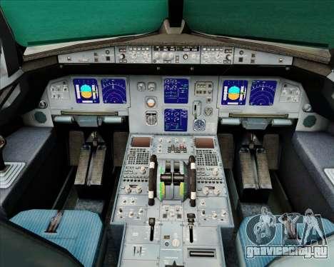 Airbus A321-200 Air New Zealand (Star Alliance) для GTA San Andreas салон