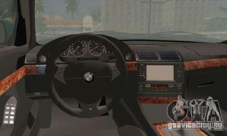 BMW 7-series для GTA San Andreas вид сзади слева