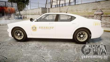 GTA V Bravado Buffalo LS Sheriff White [ELS] Sli для GTA 4 вид слева