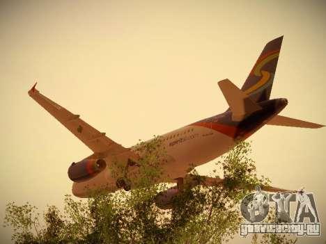 Airbus A319-132 Spirit Airlines для GTA San Andreas вид сзади