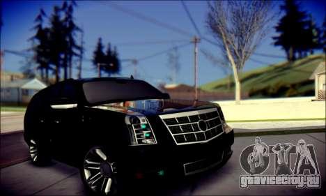 Cadillac Escalade Ninja для GTA San Andreas салон