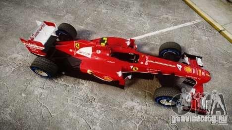 Ferrari F138 v2.0 [RIV] Massa TFW для GTA 4 вид справа