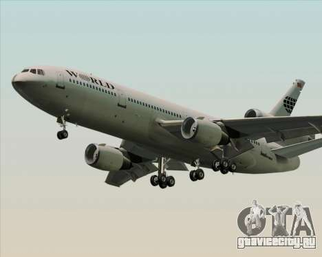 McDonnell Douglas DC-10-30 World Airways для GTA San Andreas вид справа