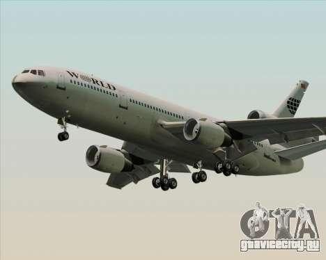 McDonnell Douglas DC-10-30 World Airways для GTA San Andreas вид справа