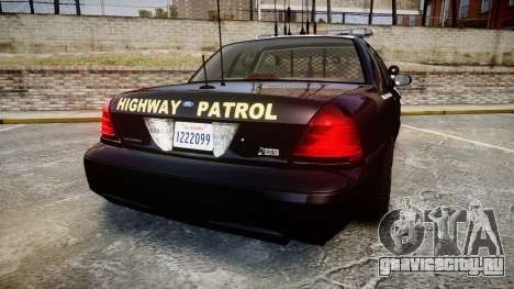 Ford Crown Victoria CHP CVPI Liberty [ELS] для GTA 4 вид сзади слева