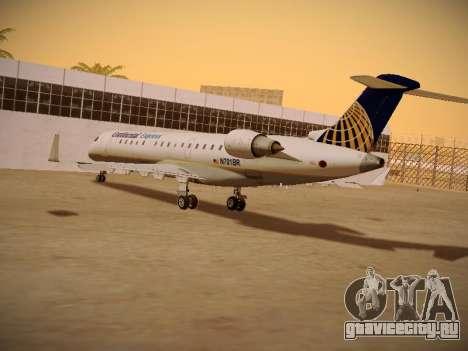 Bombardier CRJ-700 Continental Express для GTA San Andreas вид изнутри