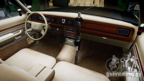 Ford LTD Crown Victoria 1987 Police CHP2 [ELS] для GTA 4 вид сзади