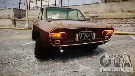 Lancia Fulvia HF (Camber) для GTA 4 вид сзади слева