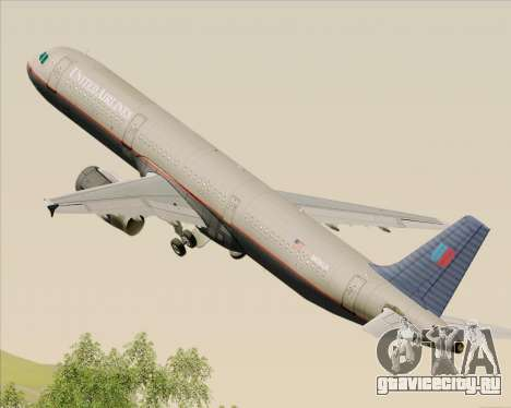 Airbus A321-200 United Airlines для GTA San Andreas