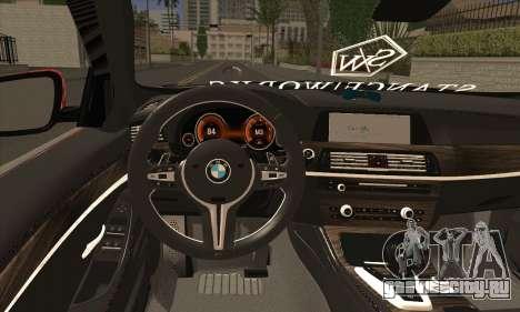 BMW 535i F10 Stance Works для GTA San Andreas вид сзади слева